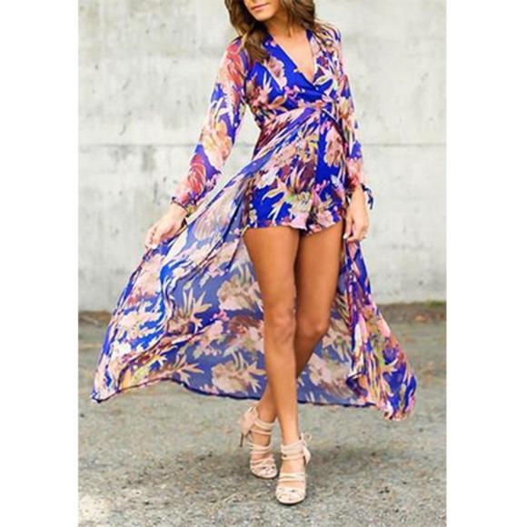 a8f145f1ad00 Dresses   Skirts - 🌺 Floral Maxi Romper Dress 👗
